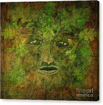 The Green Man Canvas Print by Sacred  Muse