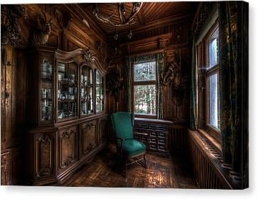 The Green Seat Canvas Print by Nathan Wright