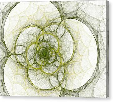 Abstract Digital Canvas Print - The Green Sphere by Steve K