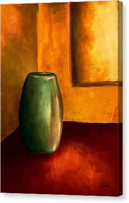 The Green Urn Canvas Print by Brenda Bryant
