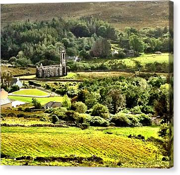 Canvas Print featuring the photograph The Green Valley Of Poisoned Glen by Charlie and Norma Brock