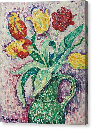 The Green Vase Canvas Print by Paul Signac