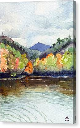 The Greenbriar River Canvas Print by Katherine Miller