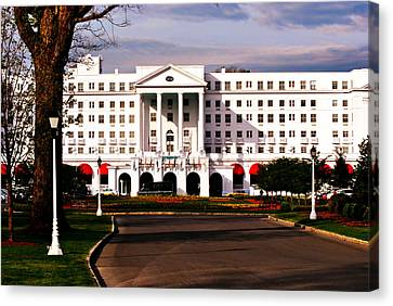 The Greenbrier Resort Canvas Print by Chastity Hoff