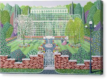 The Greenhouse In The Park Canvas Print by Peter Szumowski