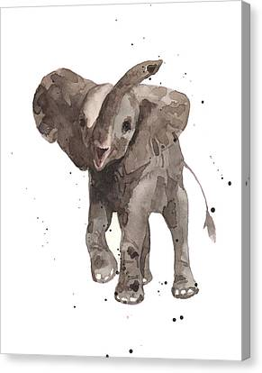 Elephants Canvas Print - The Greeter Elephant by Alison Fennell