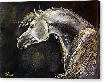 The Grey Arabian Horse 9 Canvas Print by Angel  Tarantella