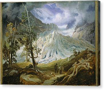Fearnley Canvas Print - The Grindelwaldgletscher by Thomas Fearnley