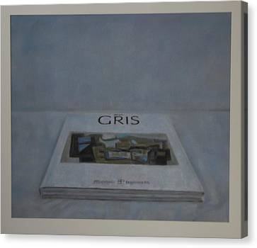 The Gris Book Canvas Print