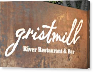 The Gristmill River Restaurant And Bar Canvas Print