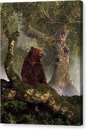 The Grizzly's Forest Canvas Print by Daniel Eskridge