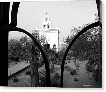 The Grounds Of San Xavier Canvas Print by Dick Botkin