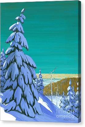 Canvas Print featuring the painting Blue Mountain High by Michael Swanson