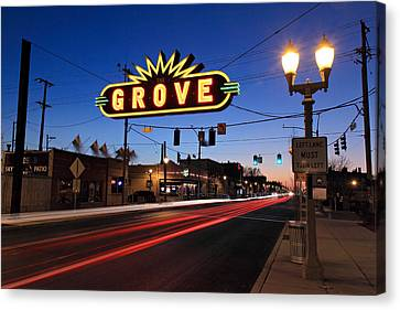 The Grove In Twilight Canvas Print