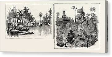 The Growing Crop, Malay Native Village, On The East Coast Canvas Print by Indonesian School