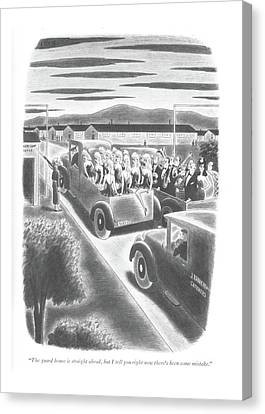 The Guard House Is Straight Ahead Canvas Print by Richard Taylor