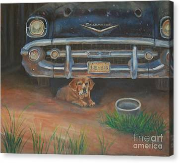 57 Chevy Canvas Print - The Guard by Jana Baker