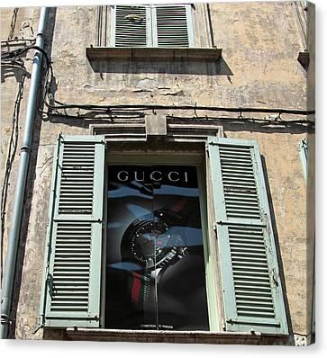 The Gucci Window Canvas Print by John Stuart Webbstock