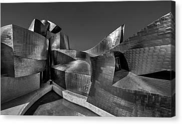 Titanium White Canvas Print - The Guggenheim Museum Bilbao  by Ayhan Altun