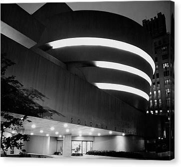 Guggenheim Canvas Print - The Guggenheim Museum In New York City by Eveyln Hofer