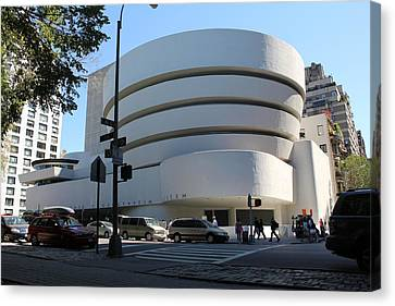 The Guggenheim Museum - New York Canvas Print by David Grant