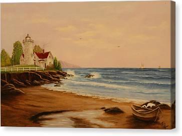 The Guiding Light Canvas Print by Rick Fitzsimons