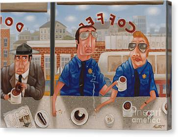 Donuts Canvas Print - The Guilty Guy 1993 by Larry Preston