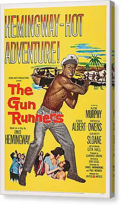 The Gun Runners, Us Poster Art, Audie Canvas Print