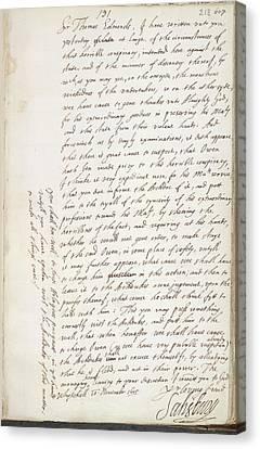 King James Canvas Print - The Gunpowder Plot by British Library