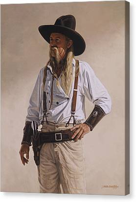Canvas Print featuring the painting The Gunslinger by Ron Crabb