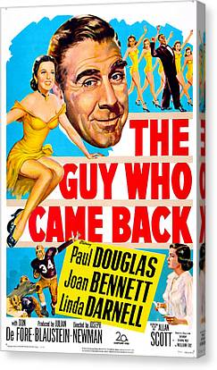 The Guy Who Came Back, Us Poster, Paul Canvas Print by Everett