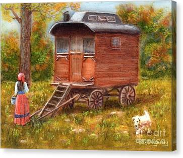 The Gypsy Caravan Canvas Print