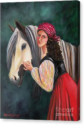 The Gypsy's Vanner Horse Canvas Print