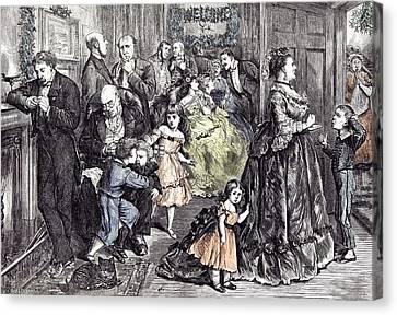 The Half Hour Before Dinner Barnard Children 1871 England Canvas Print