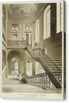 The Hall And Stair Case Canvas Print by British Library
