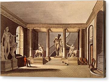 The Hall At The Royal Academy, Somerset Canvas Print by English School