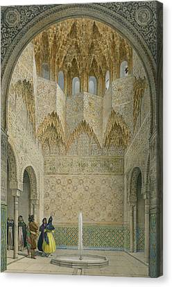Alhambra Canvas Print - The Hall Of The Abencerrages by Leon Auguste Asselineau