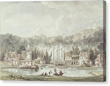 The Hameau, Petit Trianon, 1786 Wc Canvas Print by Claude Louis Chatelet