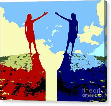 The Hand Of Friendship Canvas Print by Patrick J Murphy