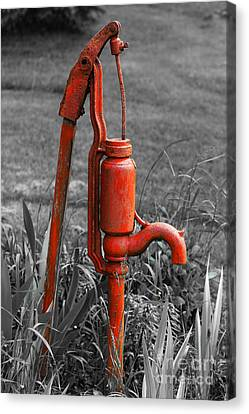 The Hand Pump Canvas Print by Barbara McMahon