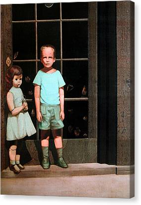 The Hands Resist Him Canvas Print by William Stoneham