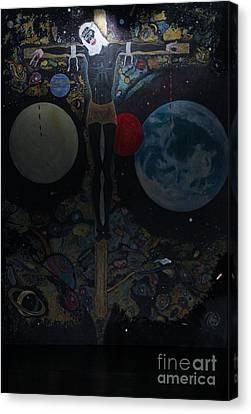 Black Tie Canvas Print - Jesus Wept by Kash Earley