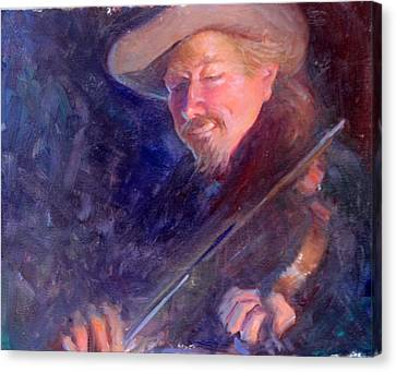 The Happy Fiddler Canvas Print by Ernest Principato