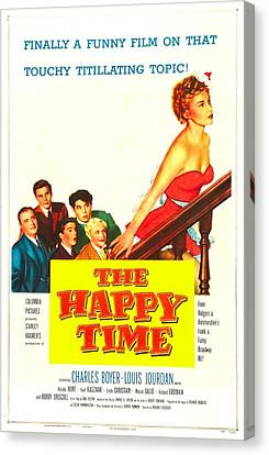 1950s Poster Art Canvas Print - The Happy Time, Us Poster, Linda by Everett
