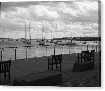 The Harbor Canvas Print by Barbara Bardzik