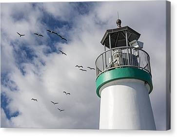 The Harbor Lighthouse Canvas Print by Bruce Frye