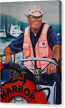 The Harbor Master Canvas Print by Joy Bradley