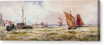 The Harbor Canvas Print by Thomas Hardy