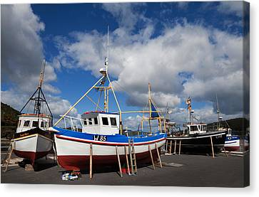 The Harbour And Fishing Boats, Passage Canvas Print