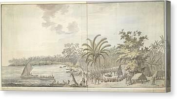 Tonga Canvas Print - The Harbour At Nomuka by British Library